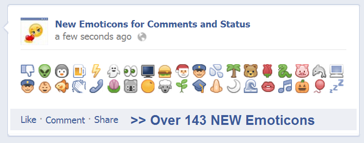 The Best 2014 Collection Of Facebook Emoticons For Comments Status