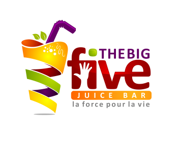 logo design entry number 10 by masjacky the big five juice bar juice bar bar logo juice logo juice bar