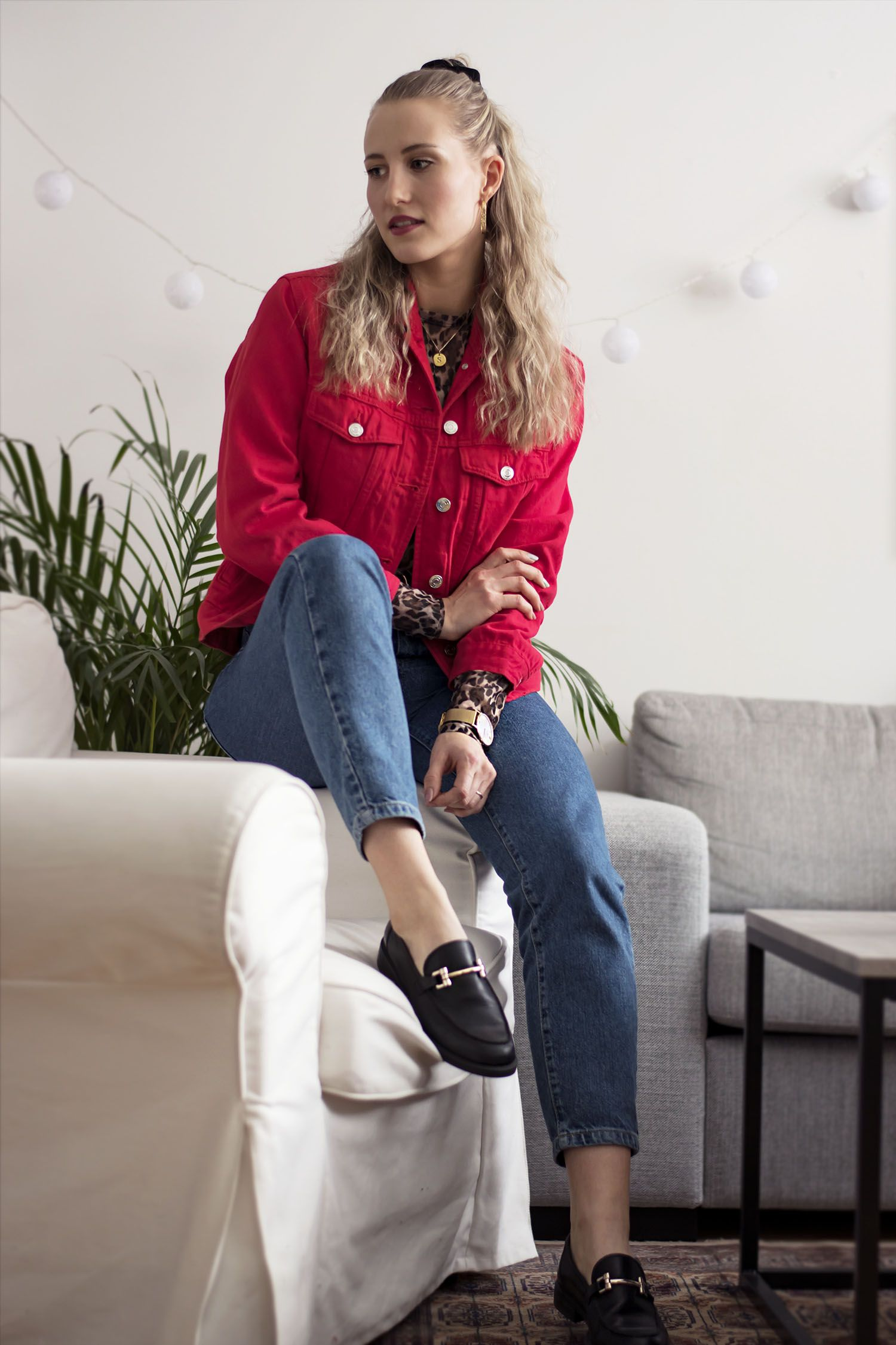 Outfit Red Denim Jacket Ropa De Referencia Pinterest Outfits