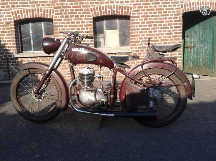 moto guiller de 1951 type g90 cylindr e 175cc guiller motos v lomoteurs constructeur. Black Bedroom Furniture Sets. Home Design Ideas