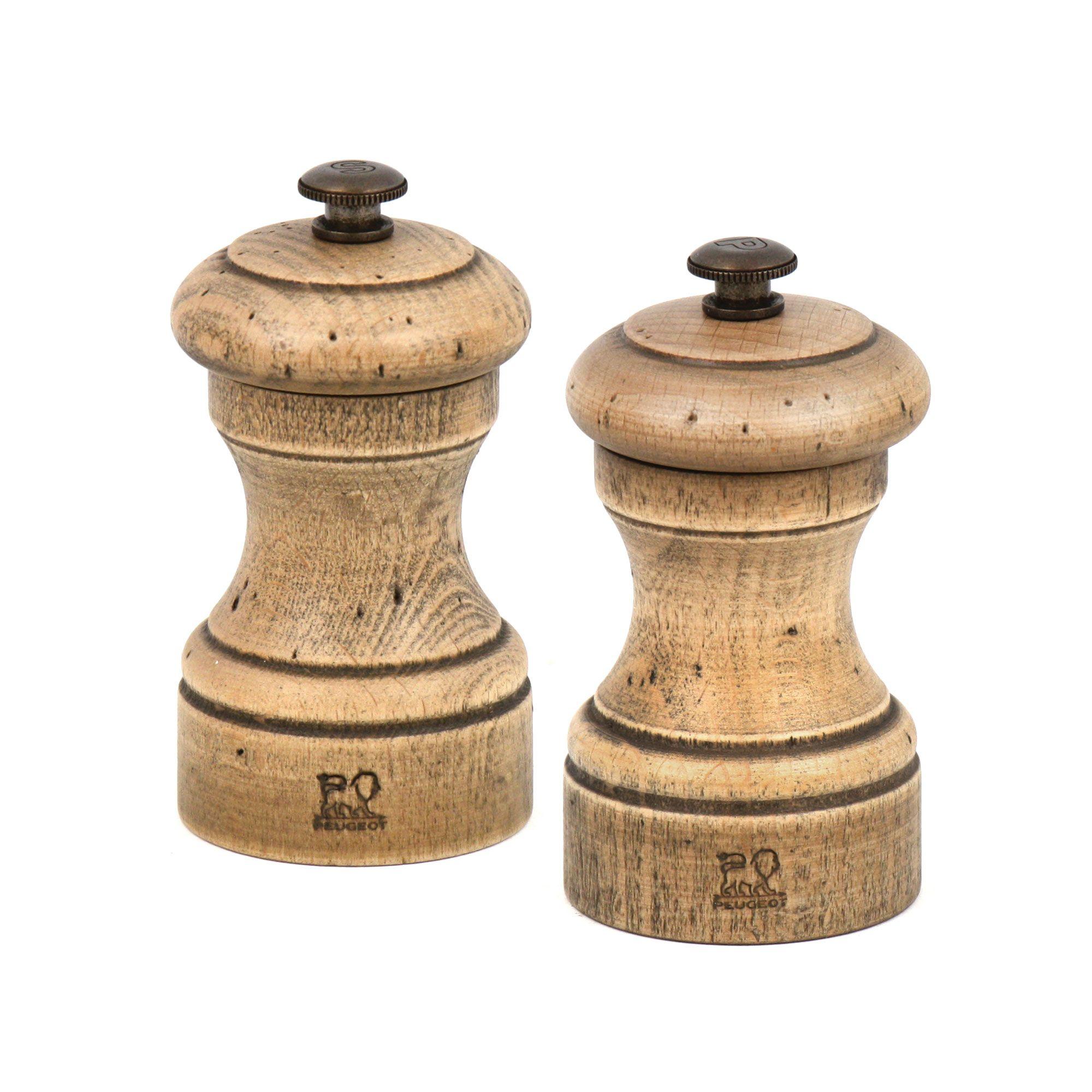 Peugeot Bistro Antique 4 Salt Pepper Mill Set Cutlery And More Pepper Mill Salt Pepper Mills Antique Collection
