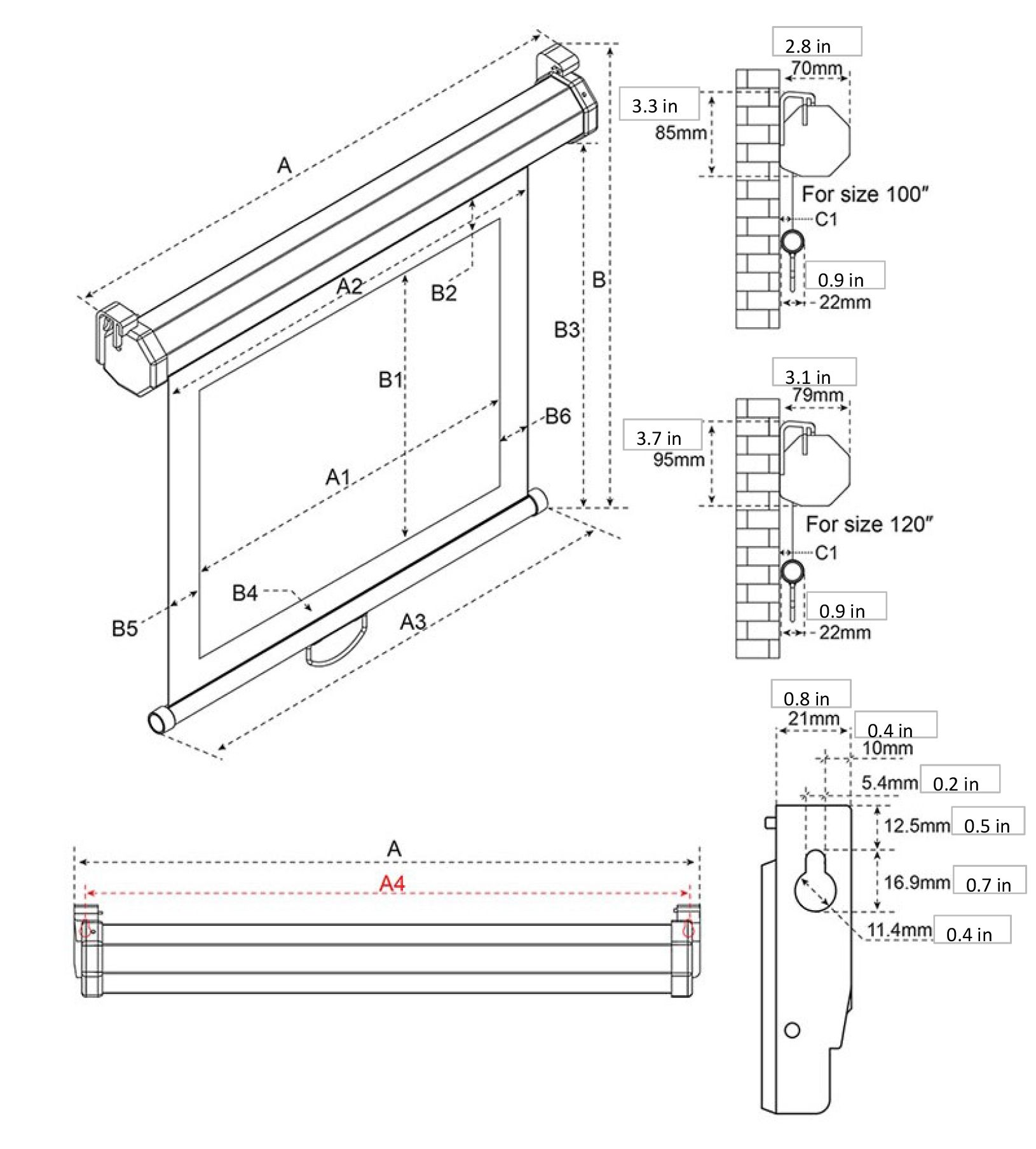 Wall Mounted Projector Screen Sizes Home Theater Pinterest Engineering Schematics Plasma Flat