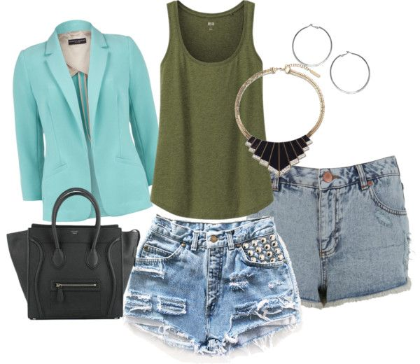"""""""demin short time!"""" by laura91-1 ❤ liked on Polyvore"""