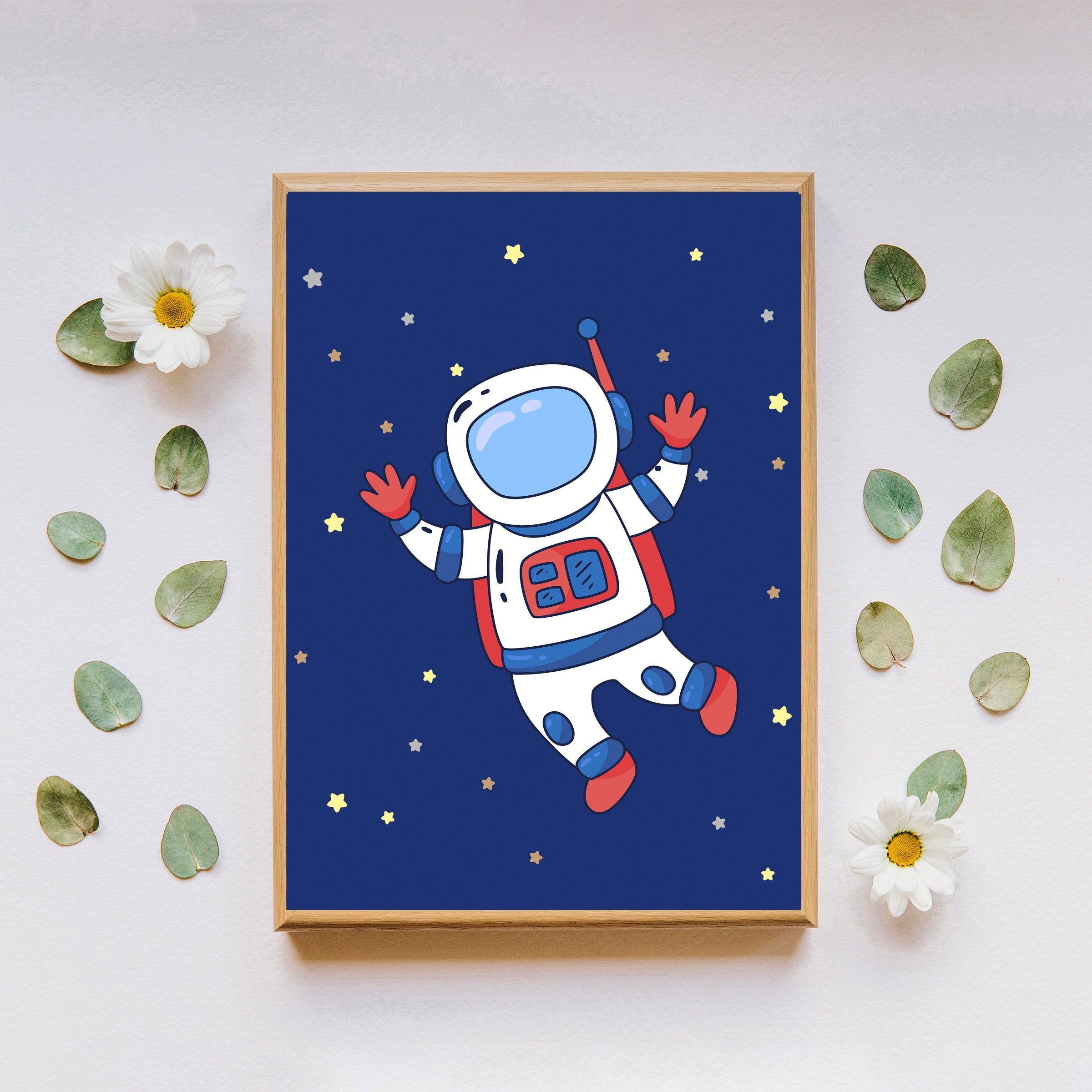 Astronaut printable wall art digital download outer