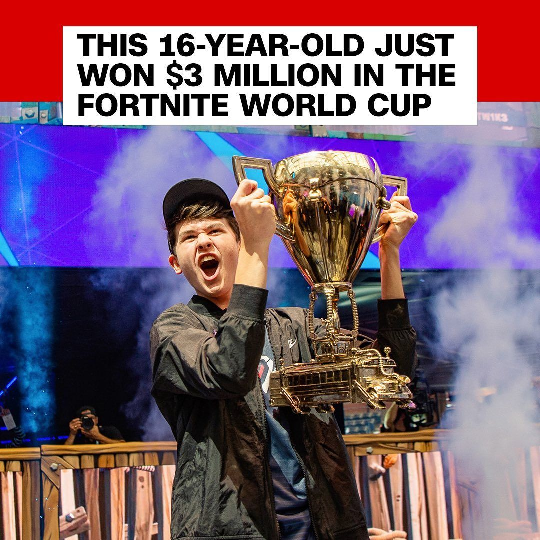 Cnn On Instagram Kyle Bugha Giersdorf 16 Took Home The Solo Win At The First Ever Fortnite World Cup Earning A Cool World Cup Esports Interesting News