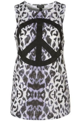 All Over Leopard Peace Tank - StyleSays
