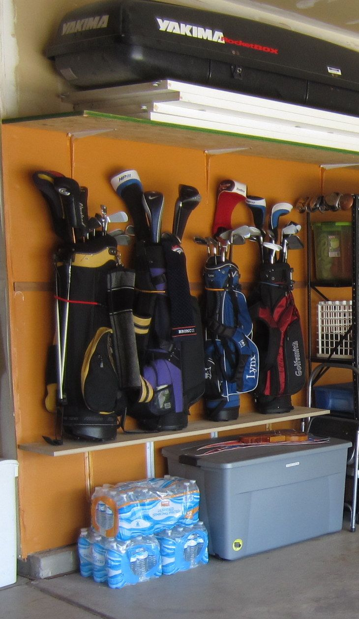 My Golf Club Storage Inexpensive Solution To Using The