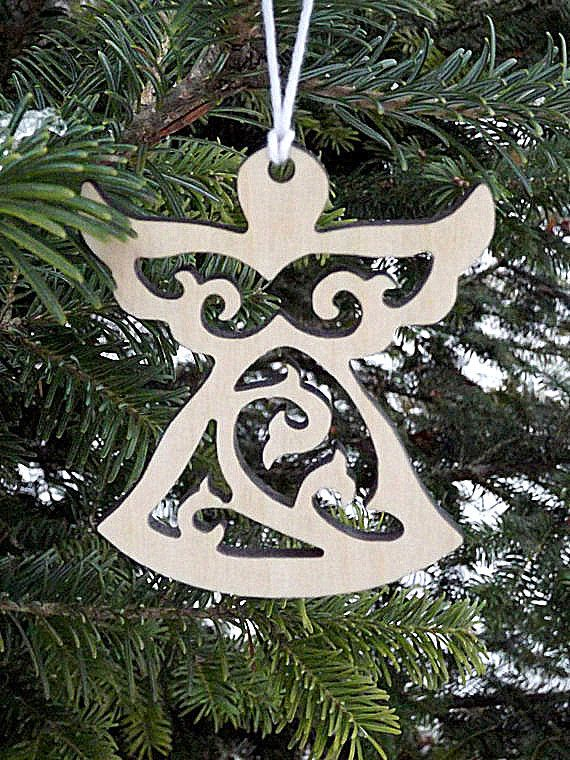 wooden angel ornaments christmas angel ornaments christmas tree decor christmas holiday hanging ornament rustic angel decor gift for her him - Angel Christmas Tree Ornaments