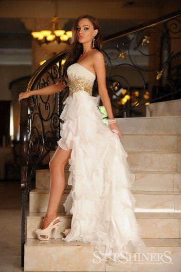 Rochie Sherri Hill Splendid White Rochie Sherri Hill, perfecta ...