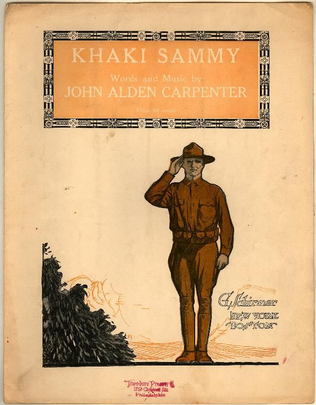 Khaki Sammy. From Duke Digital Collections. Collection: Historic American Sheet Music. Plate no.:  27852.