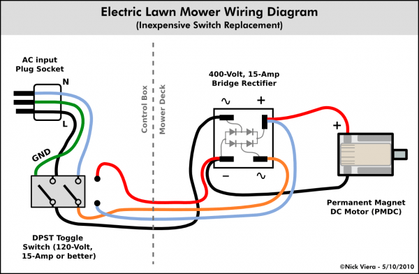 lawn mower switch wiring  electric lighter trailer light
