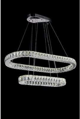 Everly Quinn Staub Unique Statement Tiered Chandelier Crystal Chandelier Led Lights Led Crystal Chandelier