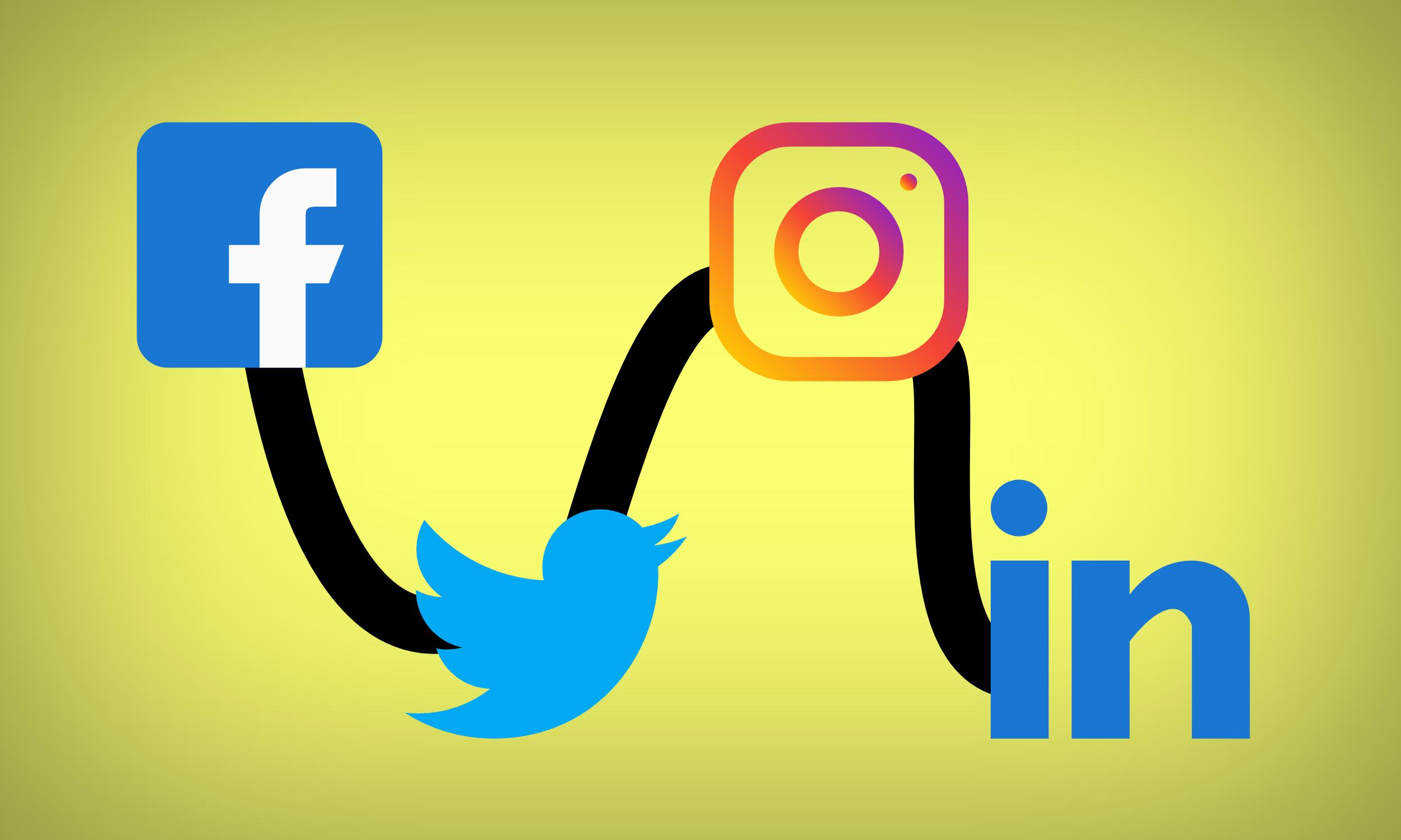 Services for Facebook, LinkedIn, Twitter, Instagram, or