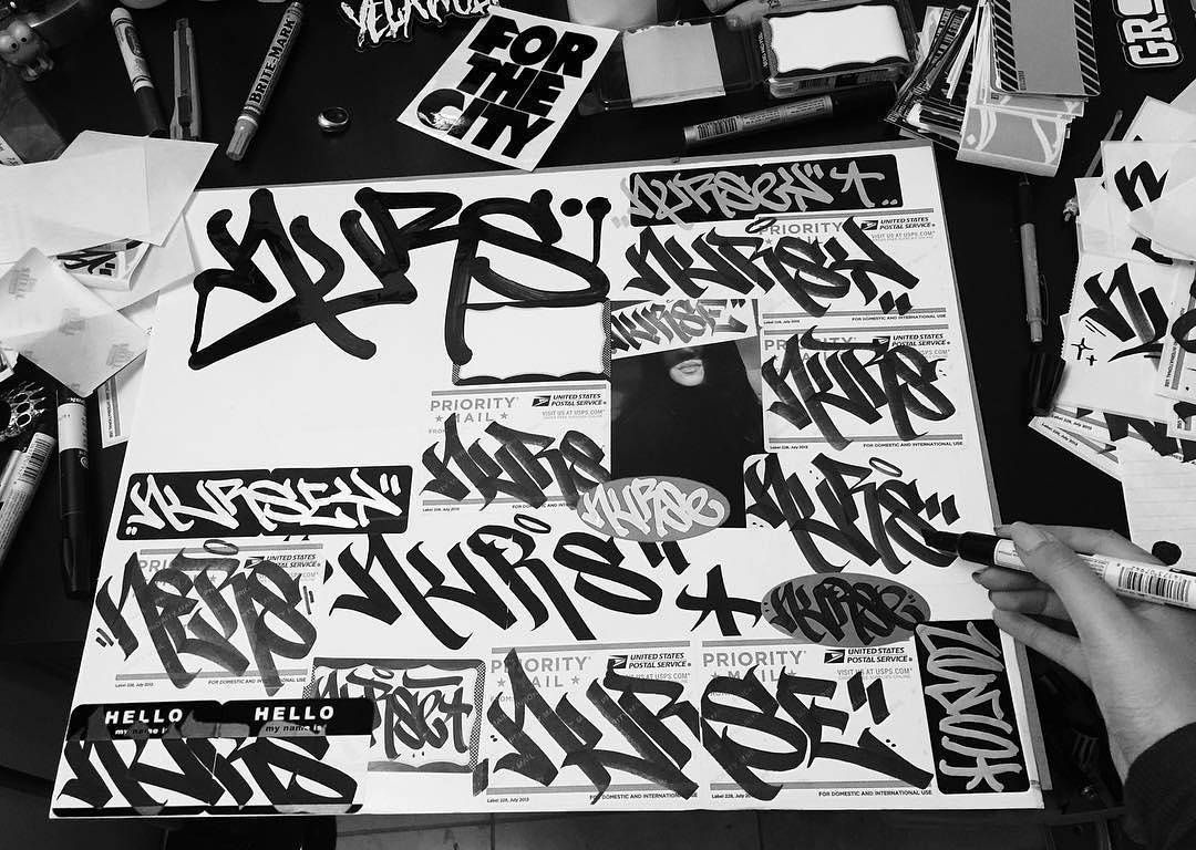 Nursey Q (@nurseyq) can tag ! #nurseyq #handstyle #graffiti /