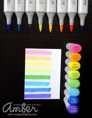 Fluorescent Copic Markers Lovin My Copic Markers