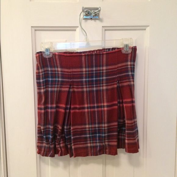 Plaid preppy pleated mini skirt Jewel toned plaid skirt with pleats, perfect for school uniform, wore it once as a throwback Halloween costume! Abercrombie & Fitch Skirts Mini