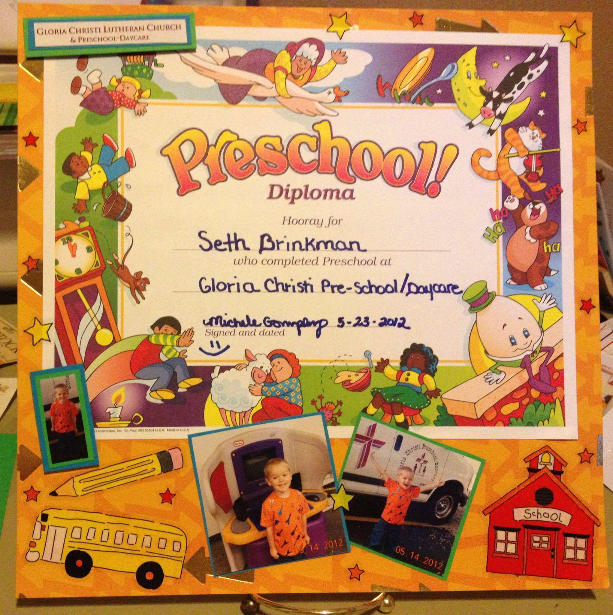 Preschool Graduation Scrapbooking