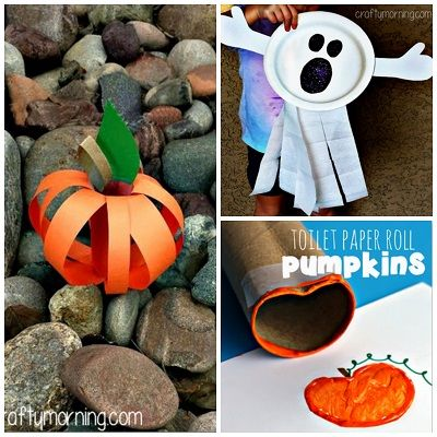 here is a bunch of halloween crafts for kids to make you will find pumpkins