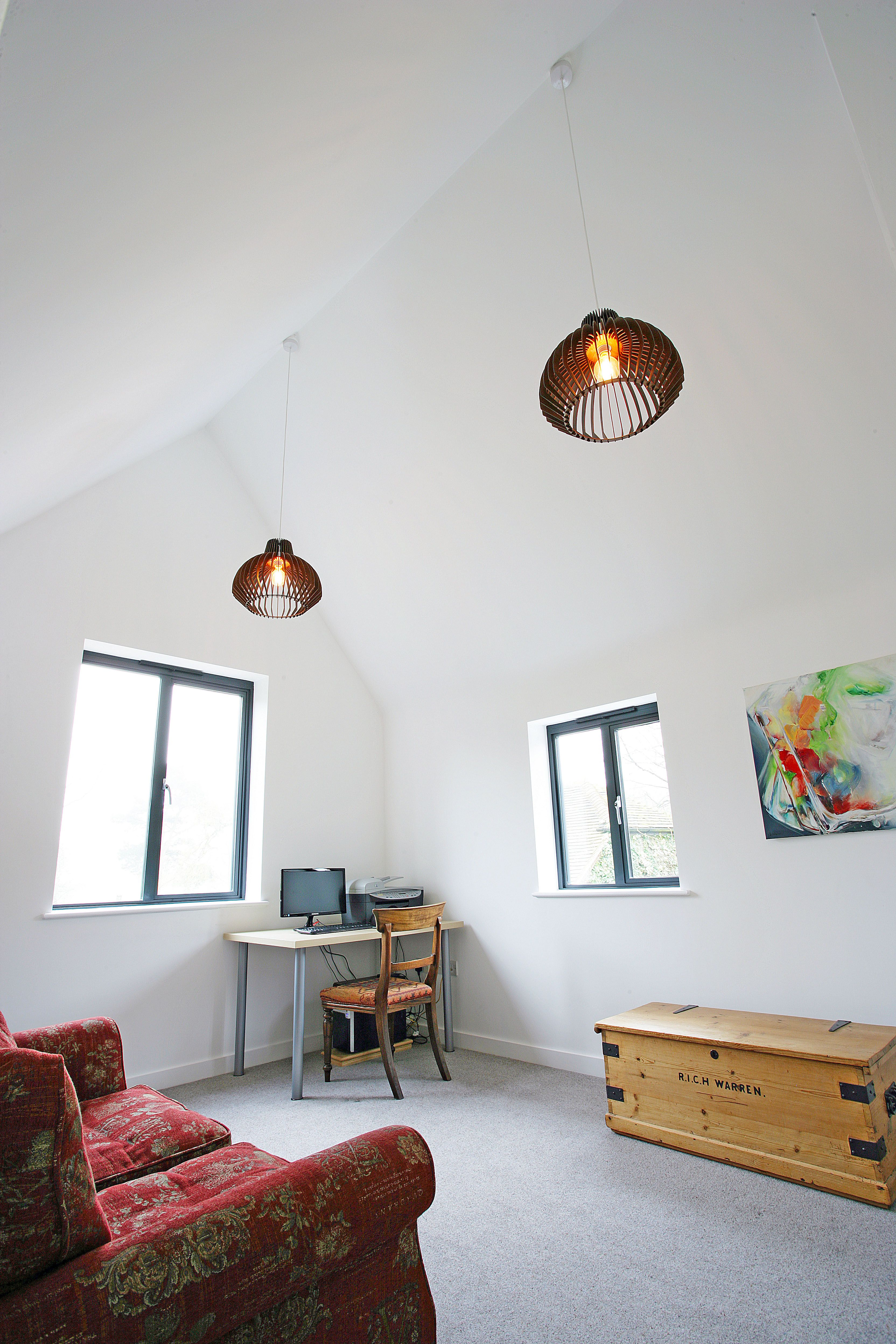 Velux window ideas  open plan extension traditional period property music room