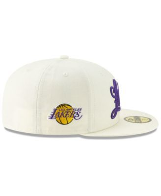 d62468960e27c7 New Era Los Angeles Lakers Jersey Script 59FIFTY-fitted Cap - Tan/Beige 7  1/8