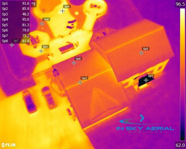 DJI Drone Inspection of roof with FLIR Thermal Imaging