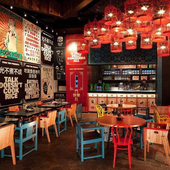 Isnpiración para un moderno y original restaurante de comida china ...