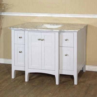 "Bellaterra Home 44"" Single Bathroom Vanity Base Base Finish: White"