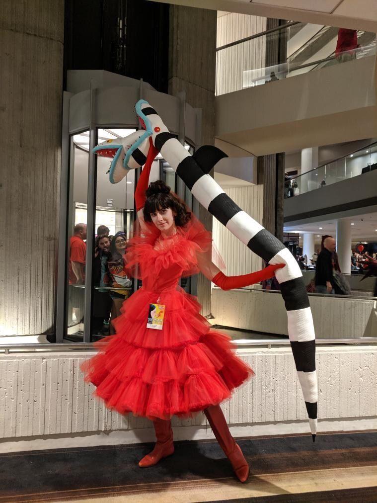 Lydia Deetz cosplay from Beetlejuice in 2020 Lydia deetz