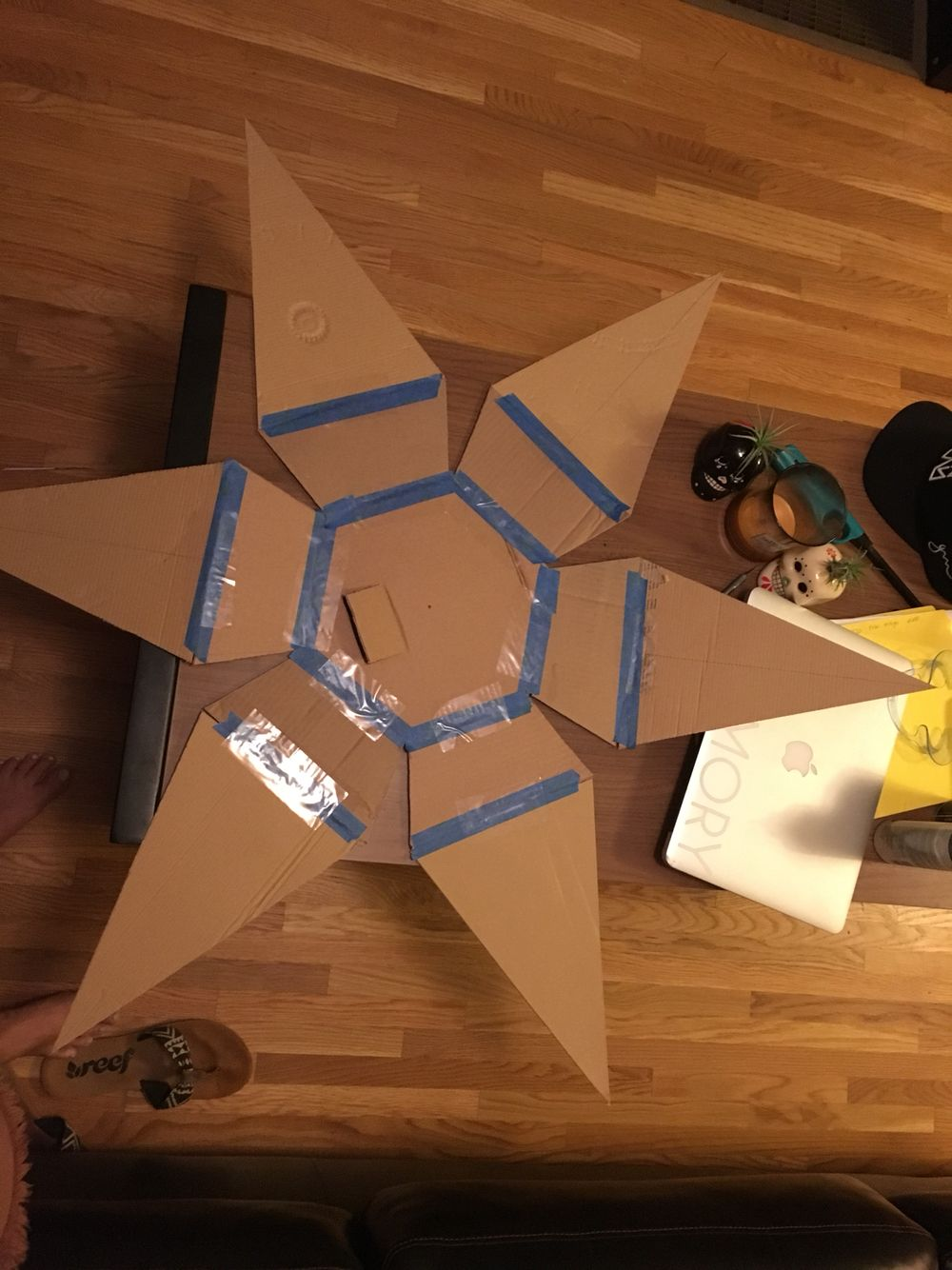 Behind the scenes of piñata building... I love that so many awesome tutorials for these types of projects are readily available online!  It's so fun to try new things!