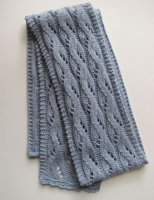 Free Knitting Pattern: Falling Water scarf pattern by Bonnie Sennott ...