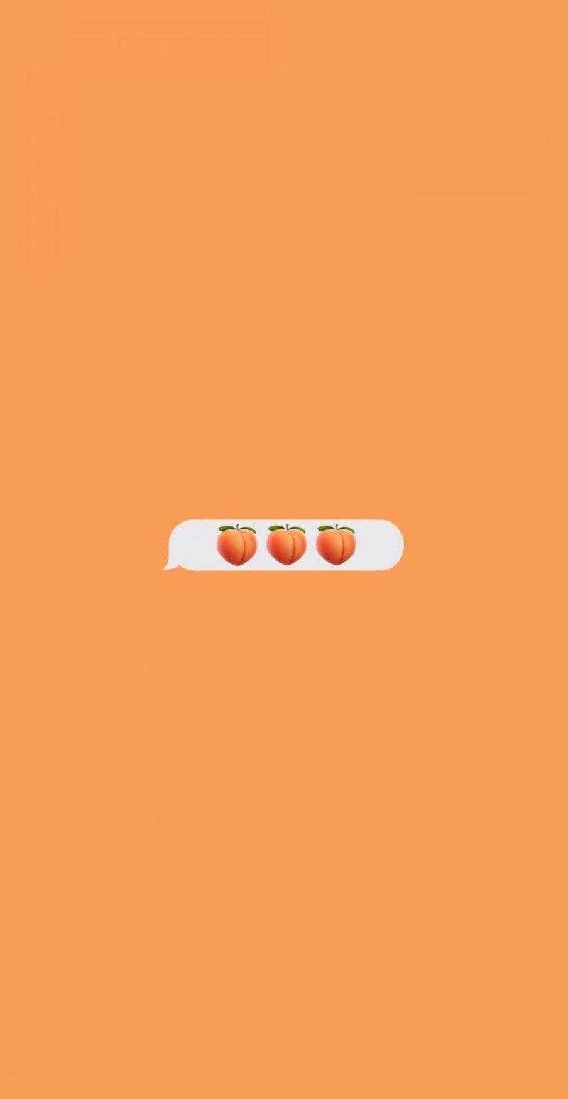 154 Blog Naver Orange Wallpaper Emoji Wallpaper Iphone Cute Pastel Wallpaper