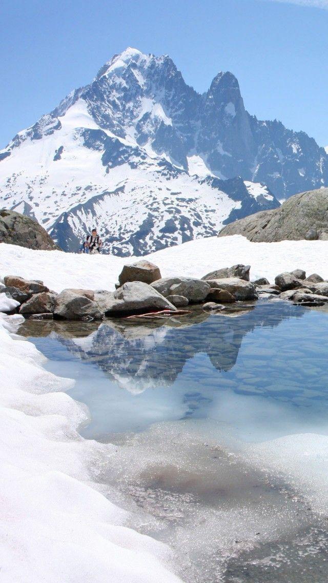 The white lake in Chamonix Mont Blanc France