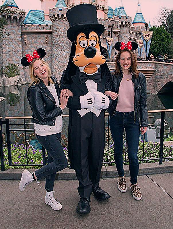 Photo of The ladies of Downton Abbey get Goofy in charming Disneylandreunion