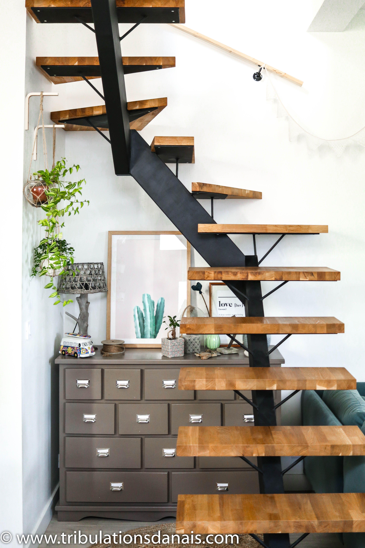 Room Tour : Bienvenue dans mon salon | Escalier ouvert, Escalier ...