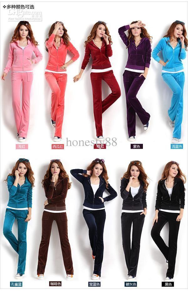 0255f409ed9 Wholesale Velour Suits - Buy Velour TrackSuit Women s Sportswear Suits Long  Sleeve Hoodie Hoody ZIP Track Suit CVC 39
