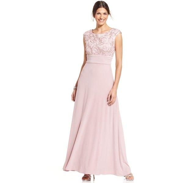 Patra Cap-Sleeve Soutache Gown $199