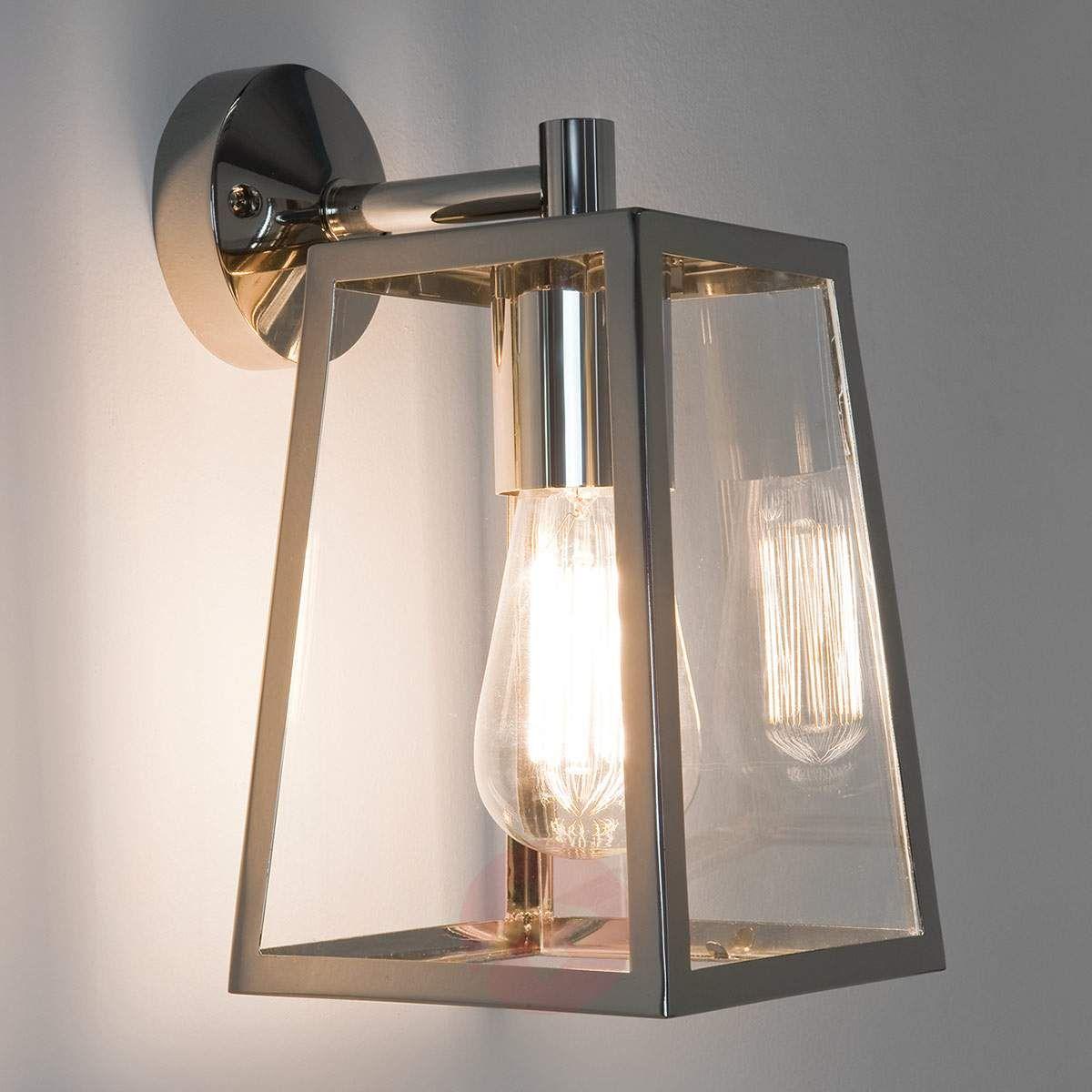 Niklowa Zewnętrzna Lampa ścienna Calvi In 2019 Lampy