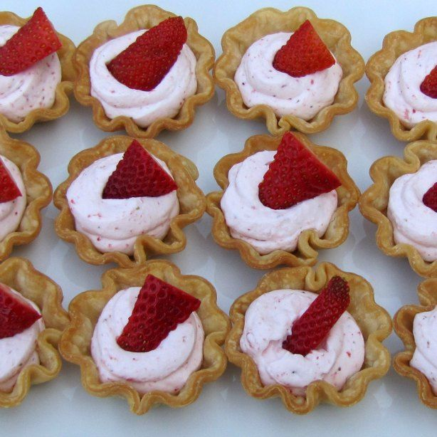 Strawberries And Cream Tarts Perfect For A Little Girls Baby