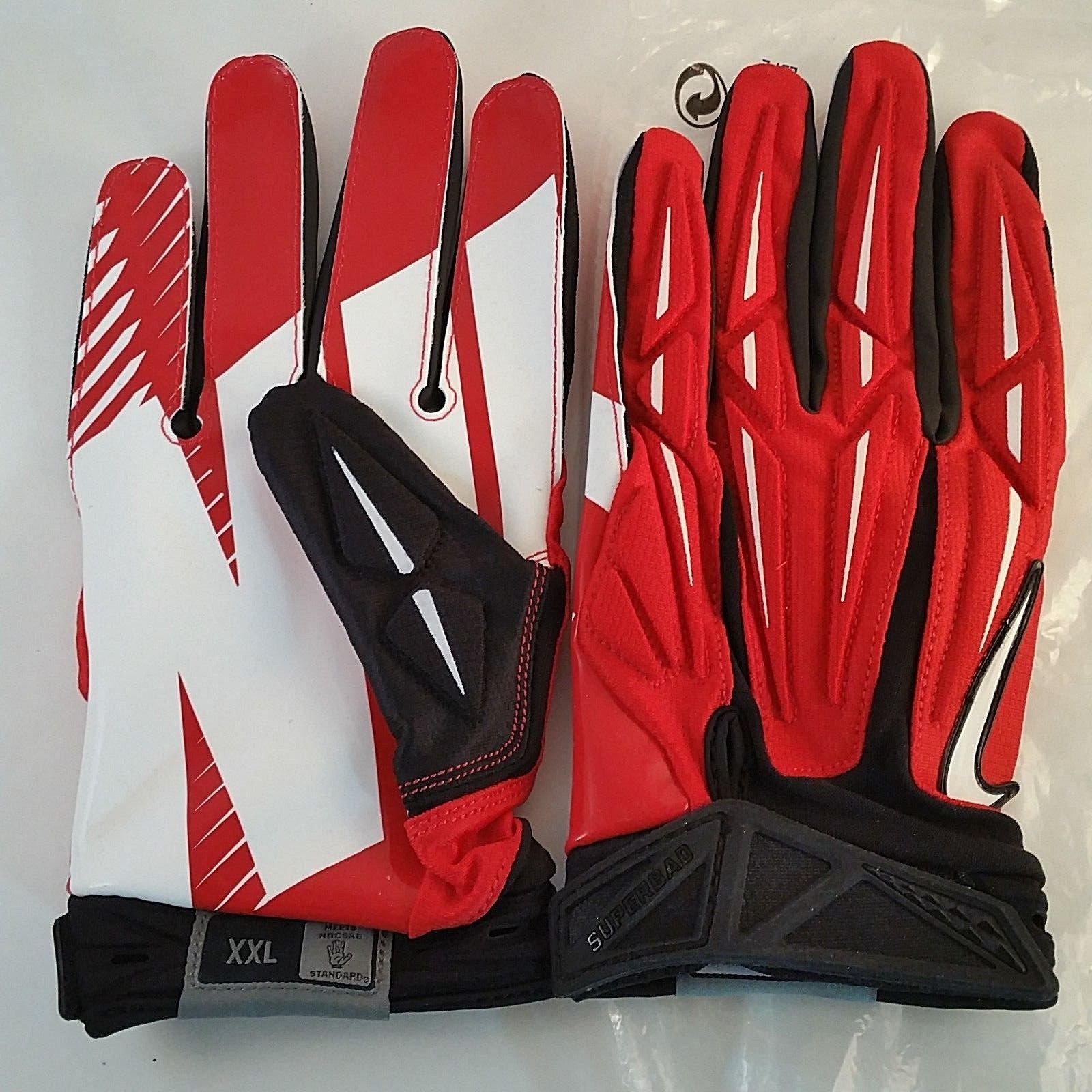 Nike superbad 20 adult 3xl padded football red gloves