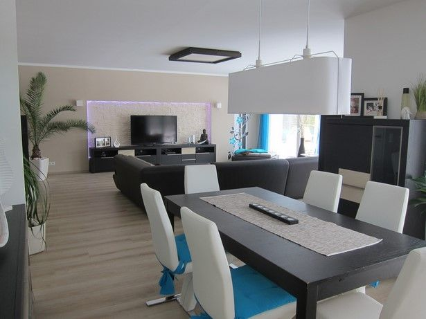 Wohnzimmer mit essecke einrichten | Wohn esszimmer ...