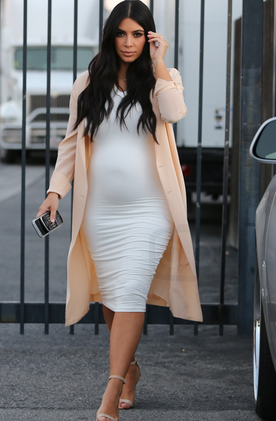 1380c10214a Kim Kardashian Leaving the studio after a meeting  kardashian  celebrities   fashion  style  white dress