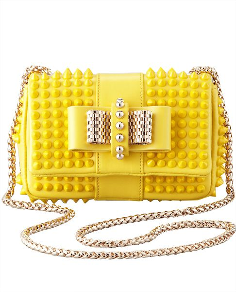 1b92b434dde Sweet Charity Mini Spiked Shoulder Bag Yellow | Yellow | Geel ...