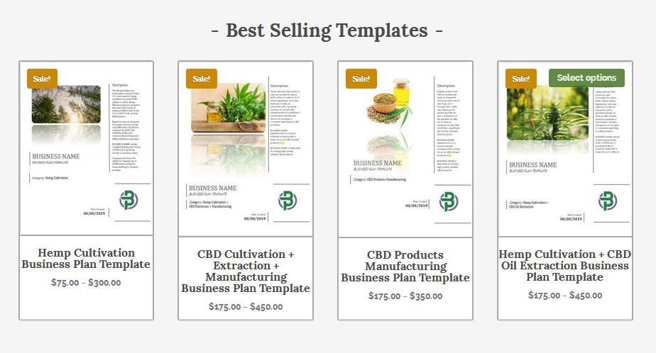 Professional hemp/CBD business plan templates (With images