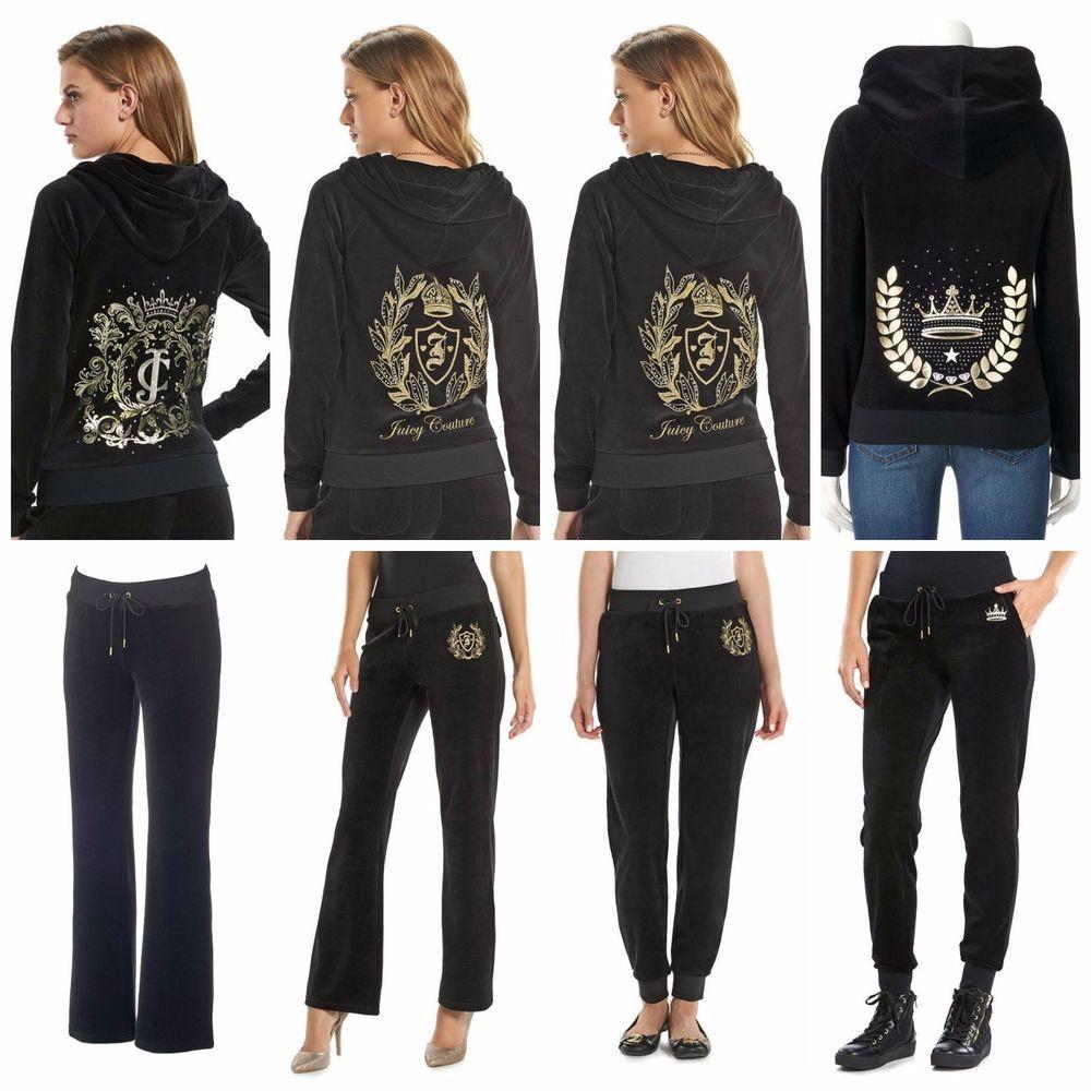 NWT Women/'s Athletic Soft Velour Zip Up Hoodie /& Sweat Pants Set XS S M L