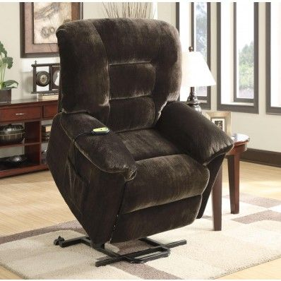 Lift Recliner Chairs Medicare Retro Metal Outdoor Chocolate Textured Velvet Fabric Power Chair 601026 By Coaster Mypriceforyou Com Affordable Furniture