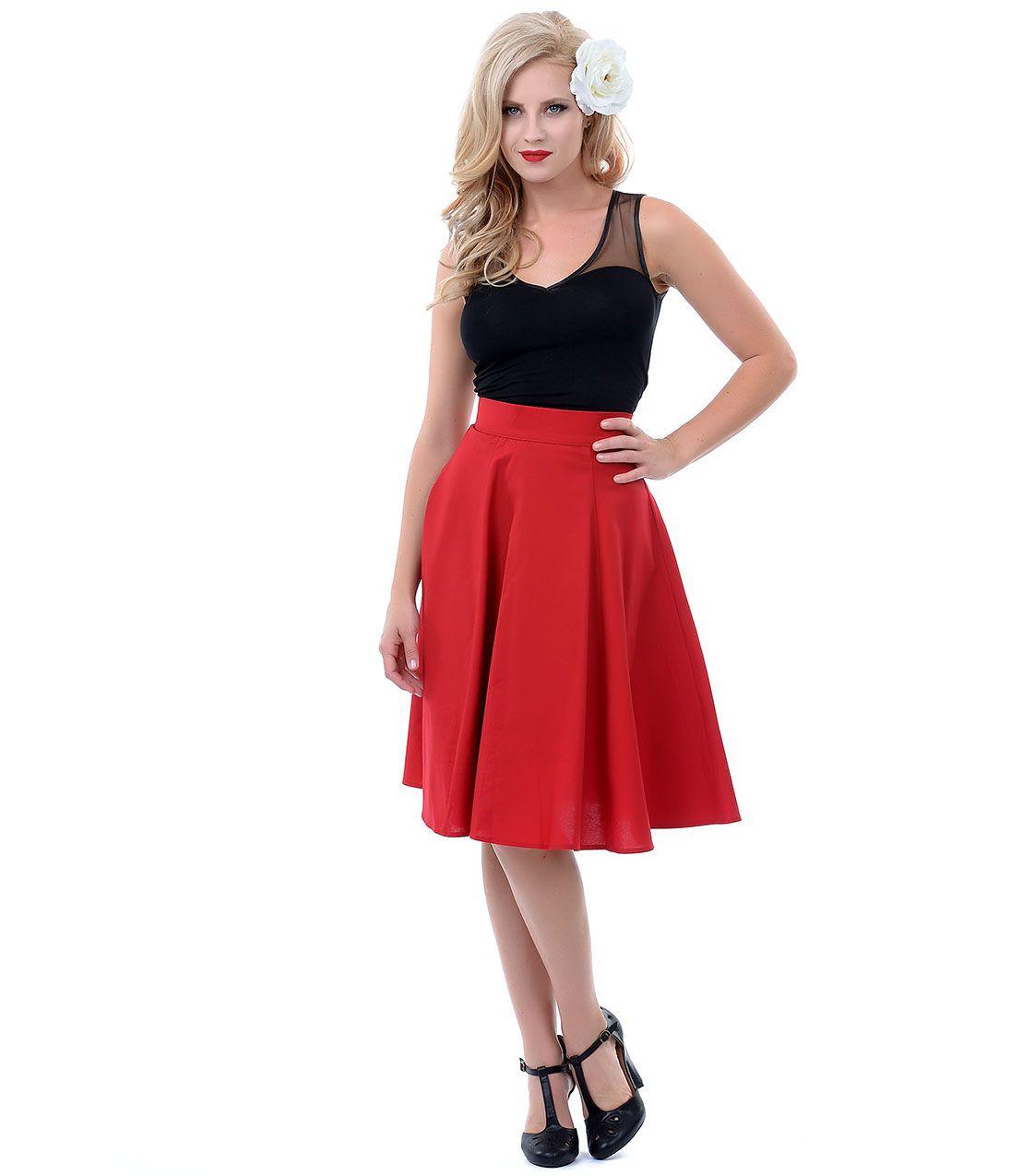 Cherry s style twirl swing skirt unique vintage prom dresses