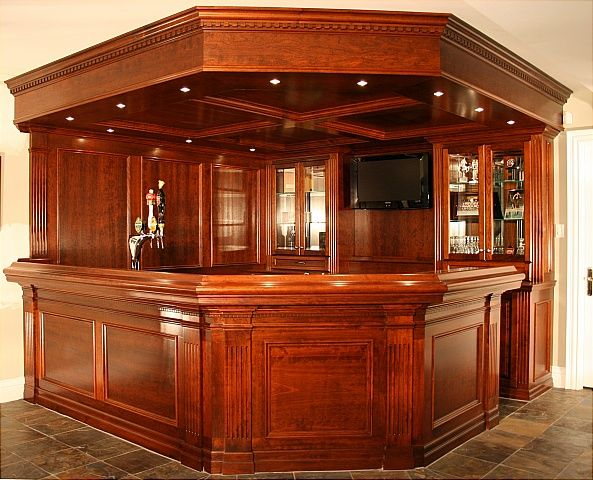 Custom Wood Home Bars | Related Post From Custom Home Bars: Desgining A Bar  Inside