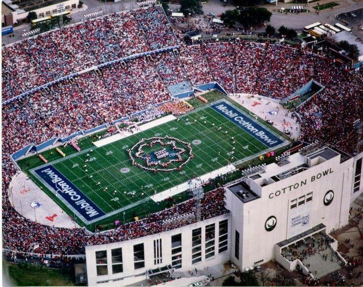 Aerial View Of The Cotton Bowl Fairground Park Dallas Texas Cotton Bowl Nfl Stadiums Texas Places