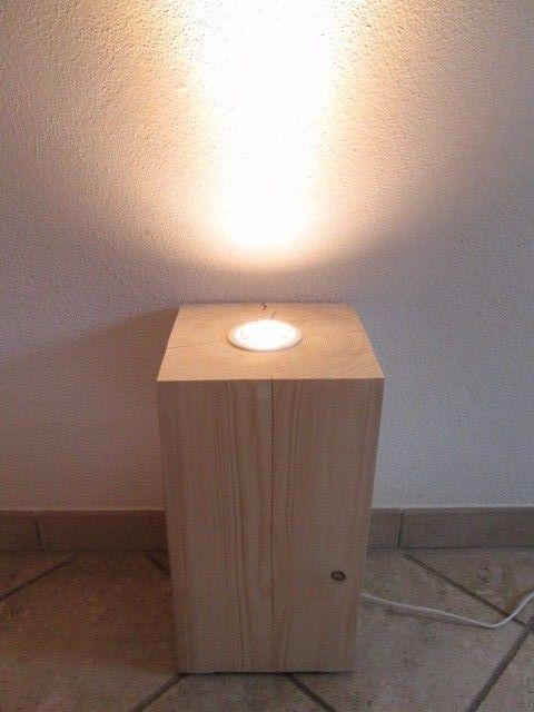 Nr 46 Fichte Deckenfluter Stehlampe Holz Ca 24cm X 24 X 45cm