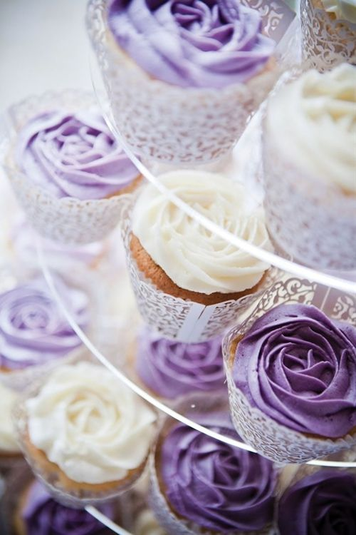 A gorgeous purple country garden wedding cupcakes - Click image to find more weddings posts